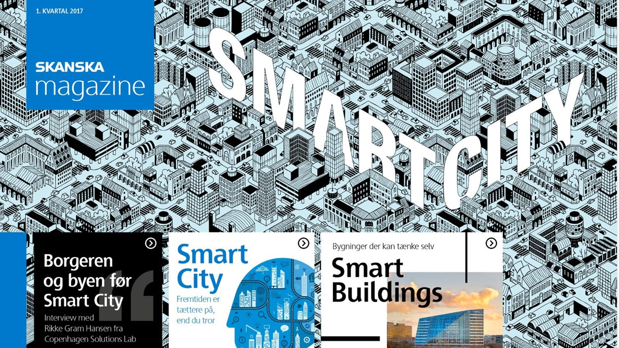 Forside på Skanska Magazine Smart Cities
